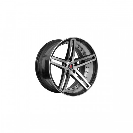 AXE EX20 22X9 5X108 ET35 BLACK MACHINED FACED