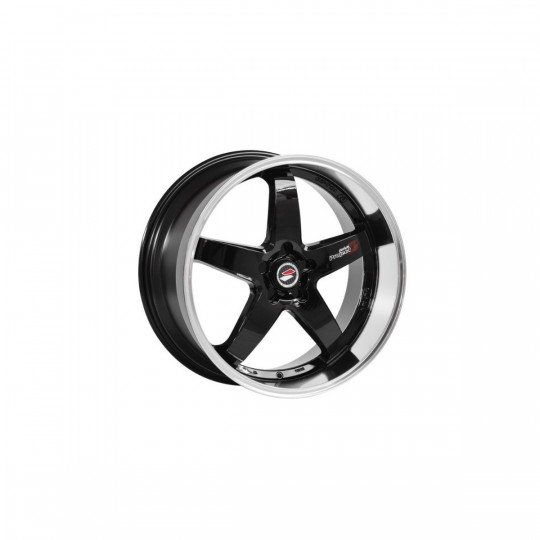 LENSO D1R 18X8 5X112 ET45 BLACK MACHINED FACED