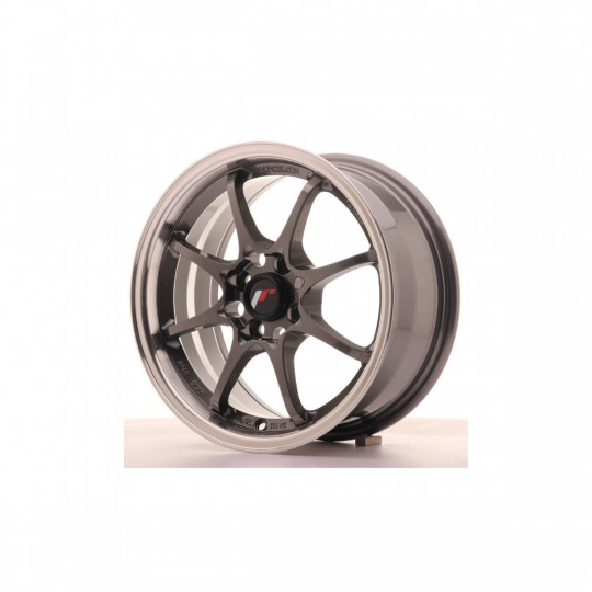 JAPAN RACING JR5 15X7 4X100 ET35 GUN METAL MACHINED LIP