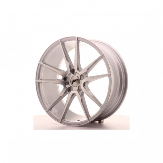 JAPAN RACING JR21 BLANK 21X10 ET45 SILVER MACHINED FACED