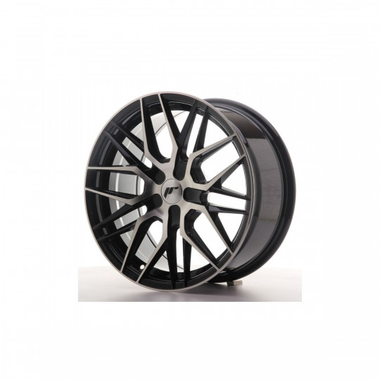 JAPAN RACING JR28 21X9 BLANK ET45 BLACK MACHINED FACED