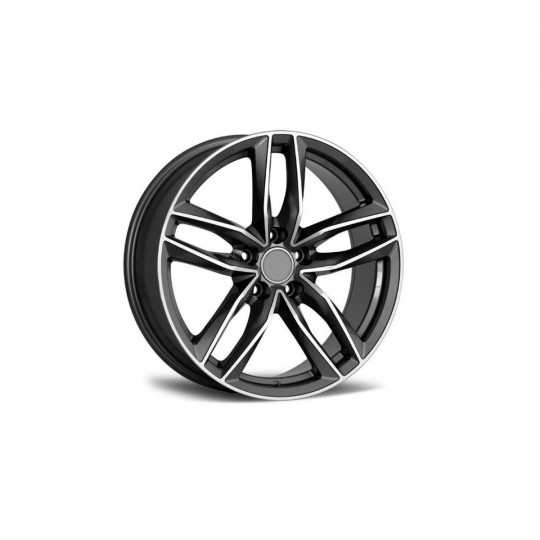 REPLICA AUDI STYLE 1196 17X7.5 5X100 ET35 GUNMETAL MACHINED FACED