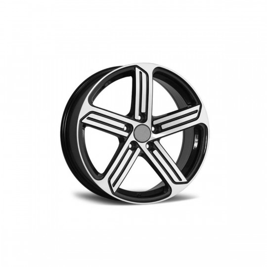 REPLICA VW STYLE 5466 17X7.5 5X100 ET35 BLACK MACHINED FACED
