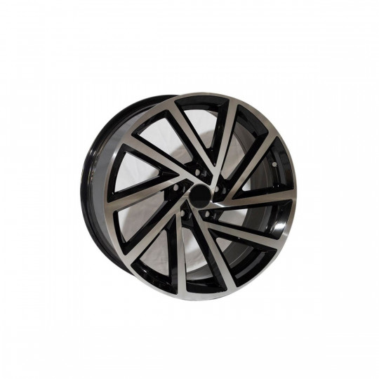 REPLICA VW STYLE 1361 18X8 5X112 ET45 BLACK MACHINED FACED