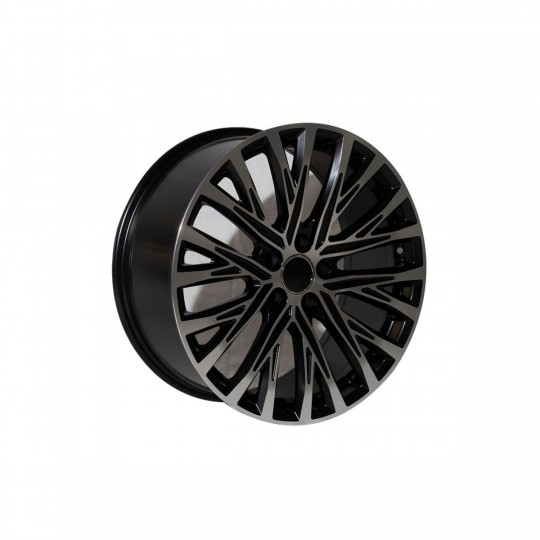 REPLICA AUDI STYLE 9691 19X8.5 5X112 ET33 MATTE BLACK MACHINED FACED