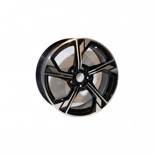 REPLICA AUDI STYLE 9692 17X7.5 5X112 ET40 BLACK MACHINED FACED