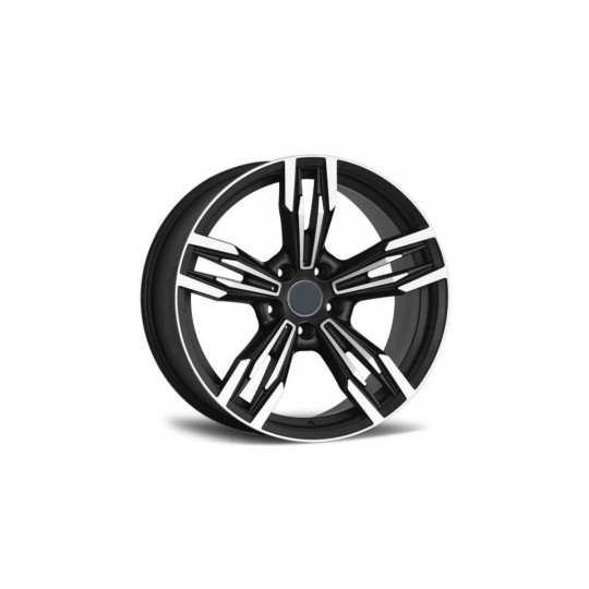 REPLICA BMW STYLE 5456 17X8 5X120 ET35 MATTE BLACK MACHINED FACED