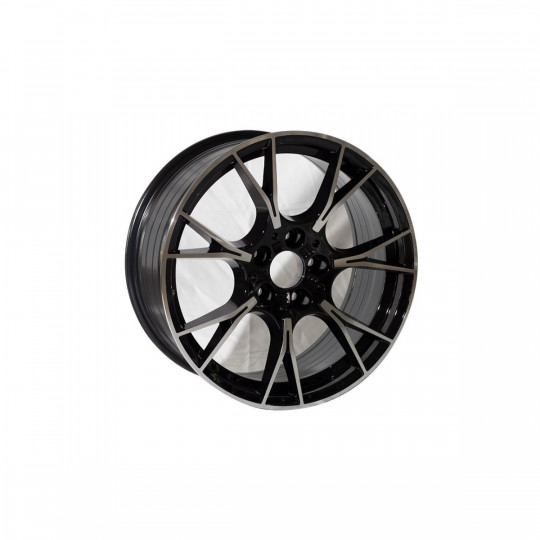 REPLICA BMW STYLE 9770 18X8-9 5X120 ET33/37 BLACK MACHINED FACED