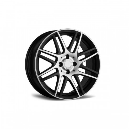 REPLICA SMART STYLE 130 16X6-17X7 4X100 ET42 MATTE BLACK MACHINED FACED