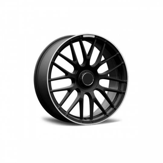 REPLICA MERCEDES STYLE 912 19X8.5-9.5 5X112 ET40 MATTE BLACK MACHINED LIP