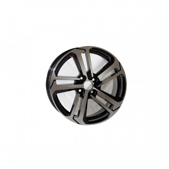 REPLICA PEUGEOT STYLE 5017 17X6.5 4X108 ET20 BLACK MACHINED FACED