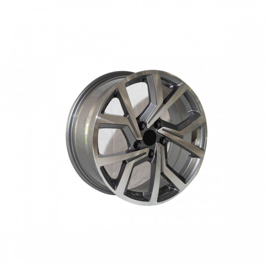 REPLICA VW STYLE 5573 18X8 5X112 ET45 GUNMETAL MACHINED FACED