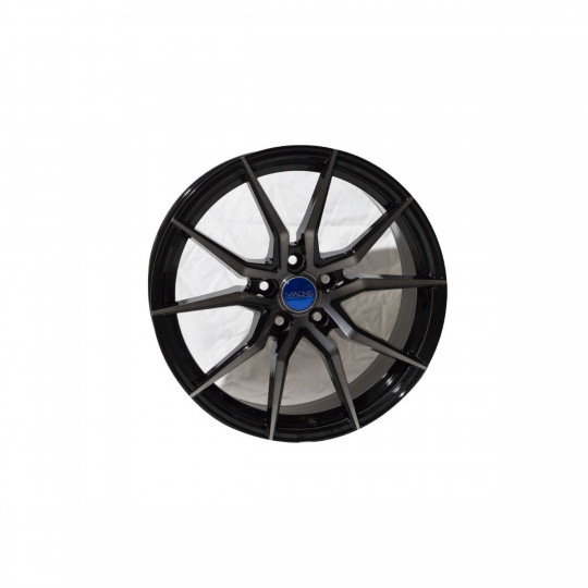 MAONS BLUE 18X8 5X108 ET40 BLACK MACHINED FACED
