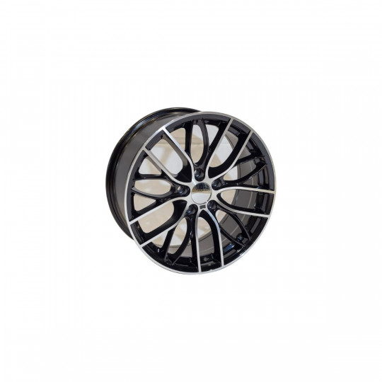 REPLICA BMW STYLE 389 19X8.5-9.5 5X120 ET33-37 BLACK MACHINED FACED
