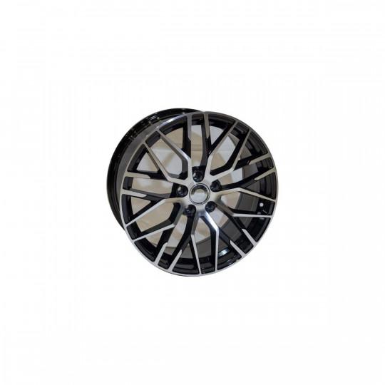 REPLICA AUDI STYLE 1349 19X8.5 5X112 ET35 BLACK MACHINED FACED