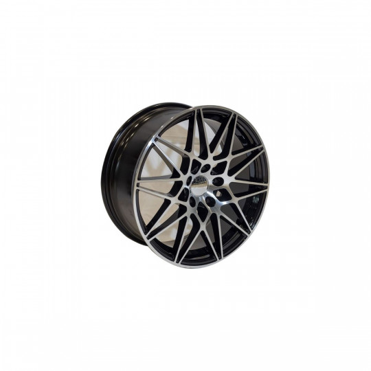 REPLICA BMW STYLE 5167 19X8.5-9.5 5X120 ET33-37 BLACK MACHINED FACED
