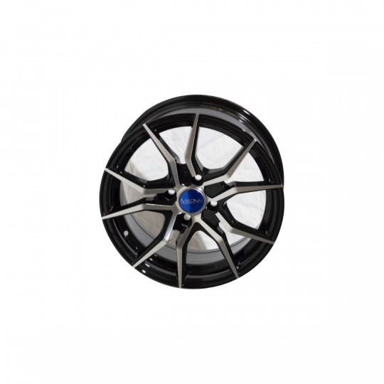 MAONS BLUE MB5527 16X7 4X100 ET40 BLACK MACHINED FACED