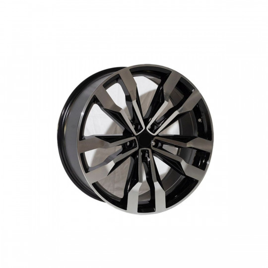 REPLICA VW STYLE 5333 20X9 5X120 ET41 BLACK MACHINED FACED