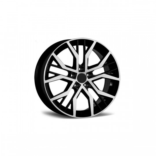 REPLICA VW STYLE 5436 16X7 5X112 ET45 BLACK MACHINED FACED